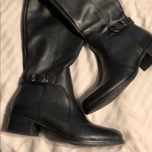 Black Franco Sarto Leather riding boots